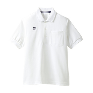 4K21001栗原はるみ×キラク/介護用ポロシャツ男女兼用(E100)[ホワイト]