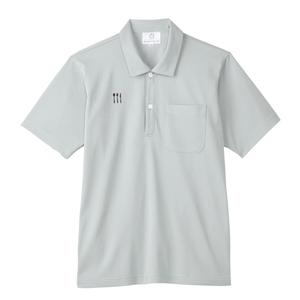 4K21003栗原はるみ×キラク/ 脇ポケット付き介護用ニットシャツ男女兼用(E100)[アイスグレー]