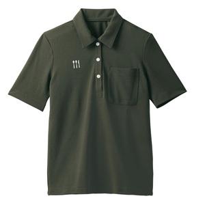 4K28001栗原はるみ×キラク/レディス介護用ニットシャツ(E100)[カーキ]