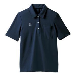 4K28001栗原はるみ×キラク/レディス介護用ニットシャツ(E100)[ネイビー]