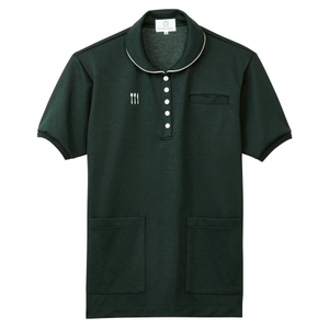 4K28002栗原はるみ×キラク/腰ポケット付き介護用レディスケアワークシャツ(E95C5)[カーキ]