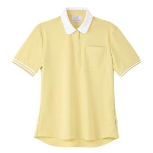 4K28003栗原はるみ×キラク/ボーダーフライスレディスニットシャツ(E100)[シトロンイエロー]