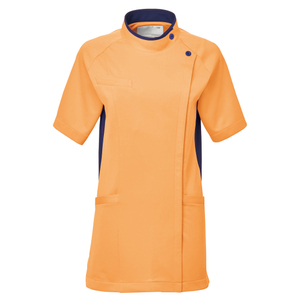 CM032理学療法士・作業療法士専用白衣レディスチュニック(ケーシー)E100[オレンジ]