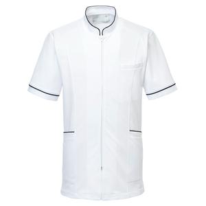 CM204理学療法士・作業療法士専用白衣メンズジャケットE100[ホワイト]