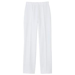 CM515スーパーストレッチで動きやすい白衣ストレートパンツ腰ゴム入男女兼用(E100)[ホワイト]