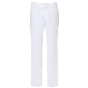 CM523理学療法士・作業療法士白衣スーパーストレッチメンズパンツ膝二重E100[ホワイト]