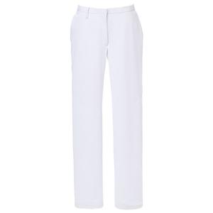 CM524理学療法士・作業療法士白衣スーパーストレッチレディスパンツ膝二重E100[ホワイト]