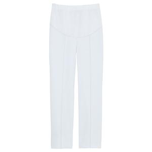CM550スーパーストレッチ白衣マタニティパンツ(白)E100[ホワイト]