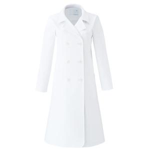 CM703在宅訪問薬局衣WECURE薬剤師レディースコートロング丈E100[ホワイト]