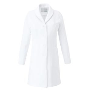 CM704調剤薬局衣WECURE薬剤師ショールカラーレディスコートE100[ホワイト×ホワイト]