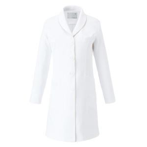 CM704調剤薬局衣WECURE薬剤師ショールカラーレディスコートE100[ホワイト×シャンパン]