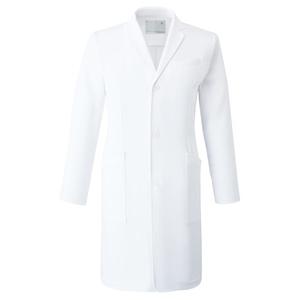 CM771調剤薬局在宅訪問薬局衣WECURE薬剤師スリムメンズコートE100[ホワイト]