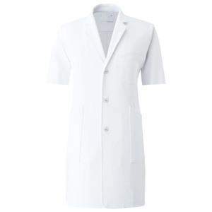 CM775調剤薬局在宅訪問薬局衣半袖WECURE薬剤師メンズコートE100[ホワイト]