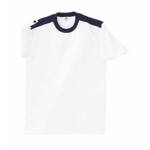 CR034入浴介助用袖ロールアップ吸汗速乾抗菌防臭Tシャツ男女兼用(E60C35N5)[ホワイト]