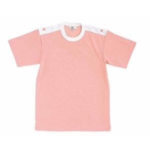 CR034入浴介助用袖ロールアップ吸汗速乾抗菌防臭Tシャツ男女兼用(E60C35N5)[オーキッドピンク]