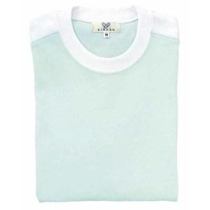 CR034入浴介助用袖ロールアップ吸汗速乾抗菌防臭Tシャツ男女兼用(E60C35N5)[ミント]