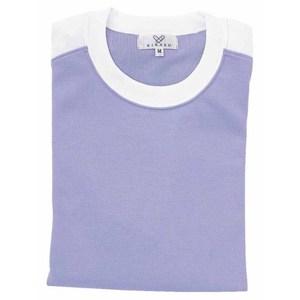 CR034入浴介助用袖ロールアップ吸汗速乾抗菌防臭Tシャツ男女兼用(E60C35N5)[ラベンダー]