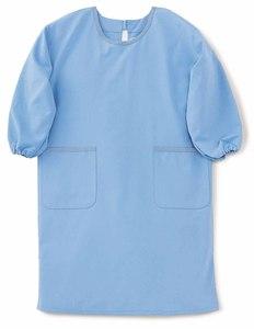かっぽう着型介護エプロン(制電撥水・抗菌防臭 E80%C20%)[ラベンダー]