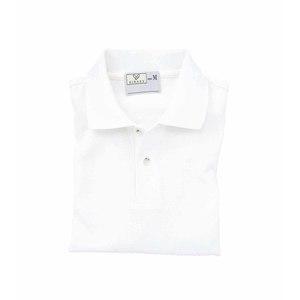 CR053介護用シンプル吸汗速乾無地ポロシャツ男女兼用(E95C5)[ホワイト]
