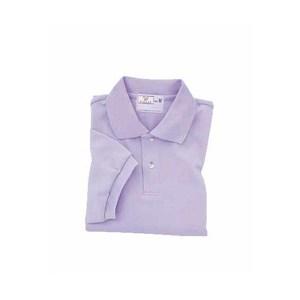 CR053介護用シンプル吸汗速乾無地ポロシャツ男女兼用(E95C5)[ラベンダー]