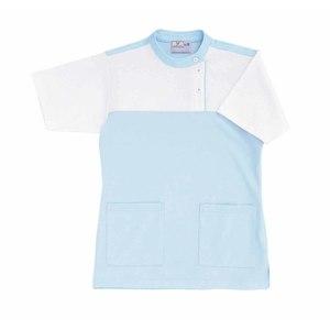 CR085介護看護PTOT向けレディスケアワークシャツ(E95C5)[サックス]