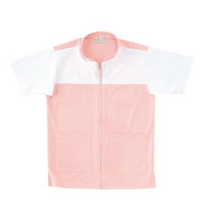CR100介護看護PTOT向けケアワークシャツ男女兼用(E75C5)[ピンク]