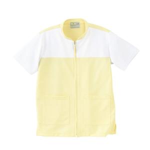 CR100介護看護PTOT向けケアワークシャツ男女兼用(E75C5)[クリーム]