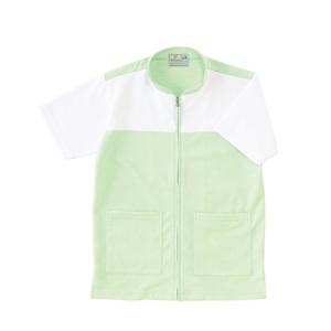 CR100介護看護PTOT向けケアワークシャツ男女兼用(E75C5)[グリーン]