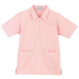 ボタンダウン風介護用ケアワークシャツ男女兼用(E95・C5)[ピンク]
