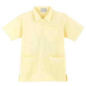 ボタンダウン風介護用ケアワークシャツ男女兼用(E95・C5)[クリーム]