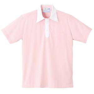 ストライプクレリック介護用ニットシャツ男女兼用(E85・C15)[ピンク]
