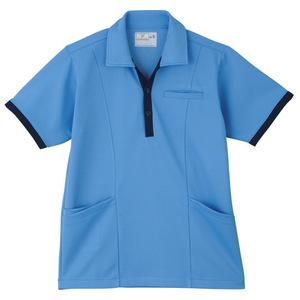 ポケットいっぱい介護用ケアワークシャツ男女兼用(E95・C5)[ブルー]