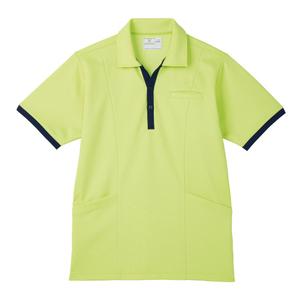 ポケットいっぱい介護用ケアワークシャツ男女兼用(E95・C5)[ライム]