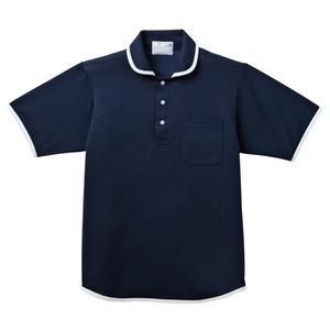 バインダー介護用ニットシャツ男女兼用(E95・C5)[ネイビー]