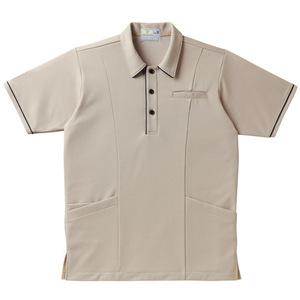 パイピング入介護用ケアワークシャツ男女兼用(E95・C5)[ベージュ]