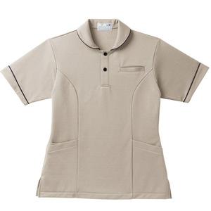 レディスパイピング入介護用ケアワークシャツ(E95・C5)[ベージュ]