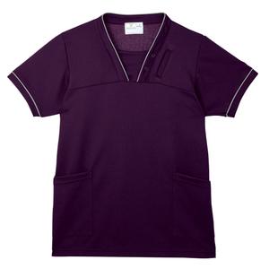 PHS専用ポケット付き明るいカラーの介護用ケアスクラブ男女兼用(E95・C5)[バイオレット]
