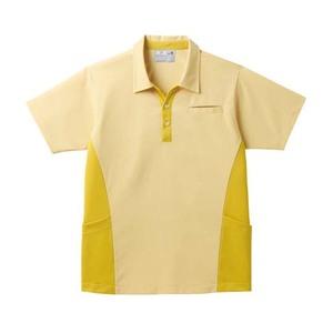 ポケットいっぱい!スキッパー衿介護用ニットシャツ男女兼用(E85・C15)[イエロー]