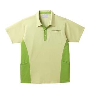 ポケットいっぱい!スキッパー衿介護用ニットシャツ男女兼用(E85・C15)[グラスグリーン]