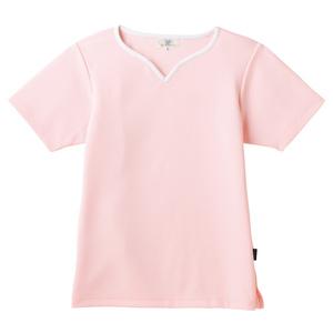 介護用撥水レディス入浴介助用ハートネックシャツ(E100)[ピンク]