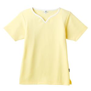 介護用撥水レディス入浴介助用ハートネックシャツ(E100)[クリーム]
