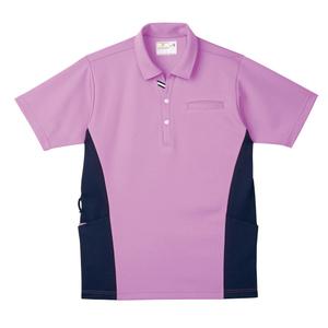 CR173脇切替で細身効果大きめポケットいっぱい防透ニットシャツ(E100)[モーベット]