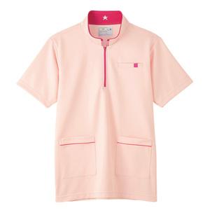 CR185腰ポケット付パステルカラーケアワークシャツ男女兼用(E100)[ピンク]