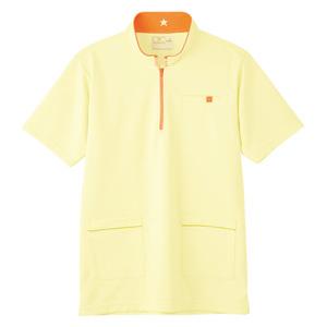 CR185腰ポケット付パステルカラーケアワークシャツ男女兼用(E100)[クリーム]