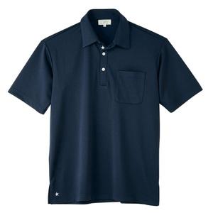 CR186星刺繍入りパステルカラーニットシャツ男女兼用(E100)
