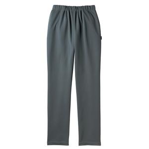 裾上げ不要すっきりシルエット介護用スレンダーパンツ(E100%)[チャコールグレー]