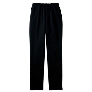 裾上げ不要すっきりシルエット介護用スレンダーパンツ(E100%)[ブラック]