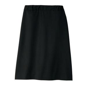 CR586裏地キュロットおなからくらくウエスト総ゴム仕様ニットスカート(E100)[ブラック]