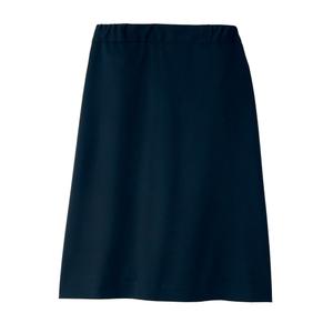CR586裏地キュロットおなからくらくウエスト総ゴム仕様ニットスカート(E100)[ネイビー]