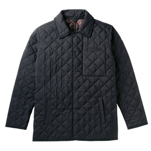 中綿あったか介護用防寒キルトジャケット(E100%)[ブラック]